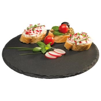 Natural Slate Round Trays