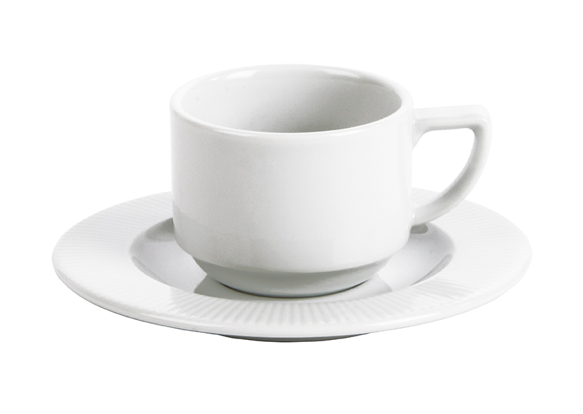 Stacking Espresso Cup & Saucer