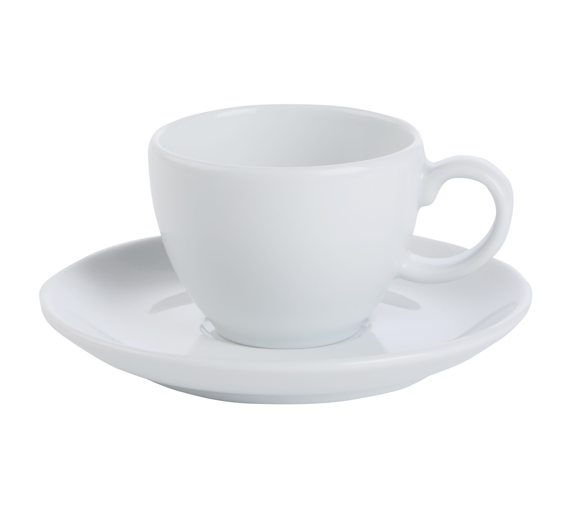 Bowl Shaped Cup & Saucer