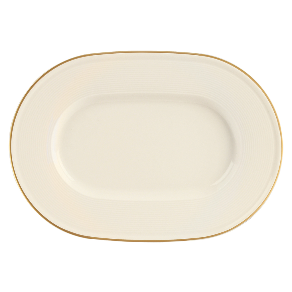 Academy Line Gold Colour Band Oval Plates