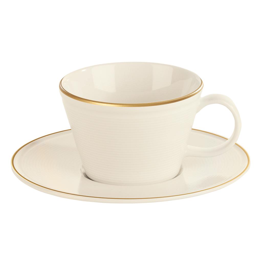 Academy Line Gold Colour Band Espresso Cup & Saucer