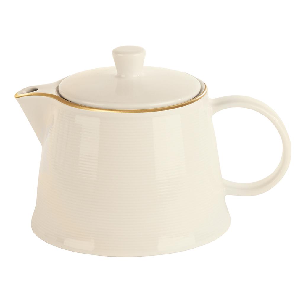 Academy Line Gold Colour Band Tea Pots